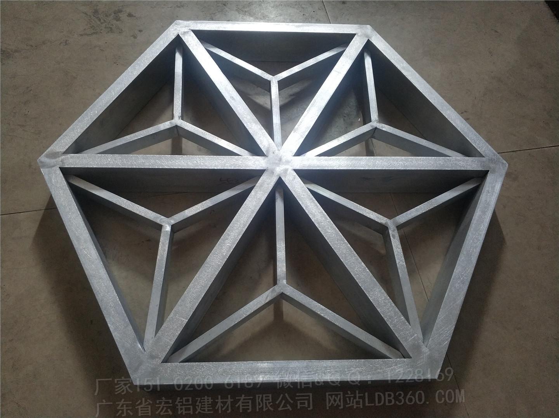 六边形铝格栅