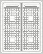 镂空雕花铝单板、效果图纸_