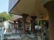 2018年图册(铝板幕墙天花)_造型包柱 弧形方管包柱 仿木纹造型方管